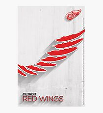 Detroit Red Wings Minimalist Print Photographic Print
