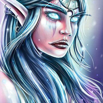 """Tyrande"", Fanart of Warcraft by MoonpixStudios"