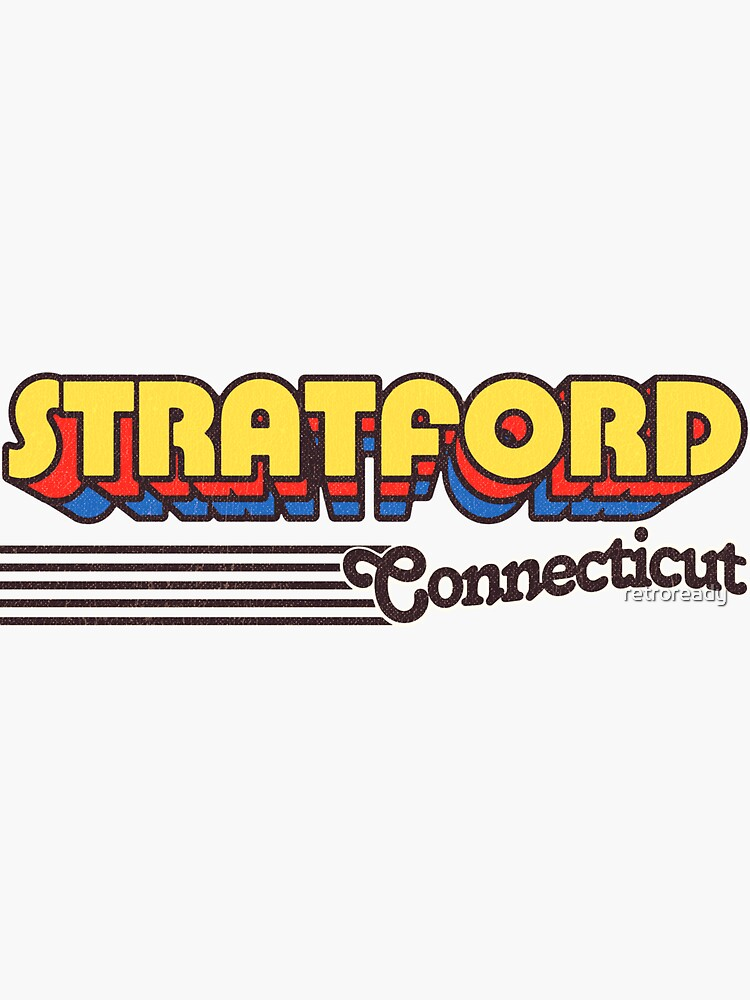 Stratford, Connecticut | Retro Stripes by retroready