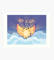Ray to Go! / Manta Ray Of Sunshine Art Print