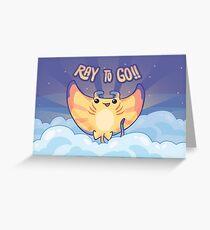 Ray to Go! / Manta Ray Of Sunshine Greeting Card