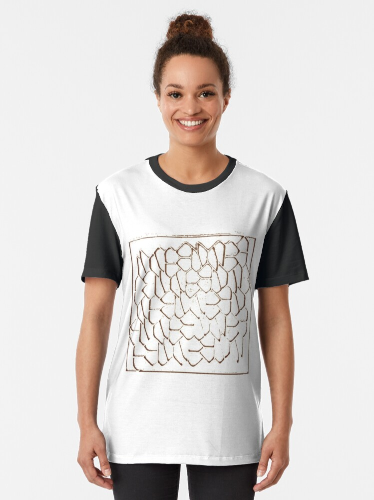 Alternate view of #mosaic, #tessellation, #puzzles, #medley,  #pattern, #design, #arrangement, #collection Graphic T-Shirt