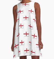 Flagge von England, Muster A-Linien Kleid