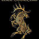 Celtic Elk Rampant by celthammerclub