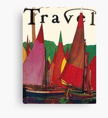 Vintage Sailboat Travel Canvas Print