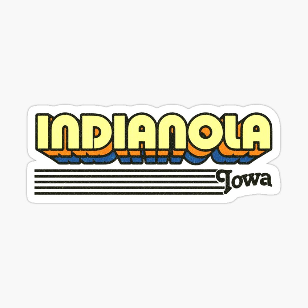 Indianola, Iowa | Retro Stripes Sticker