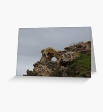 A Hole In The Rocks Greeting Card