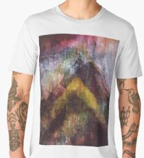 Abstract  Art Mountains with texture Men's Premium T-Shirt