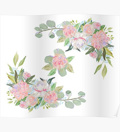 Floral Wreath Border III Poster