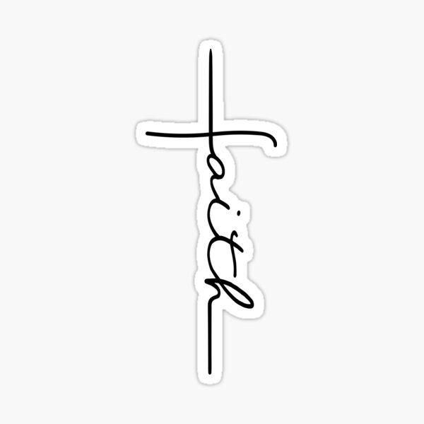 Faith Cross Sticker