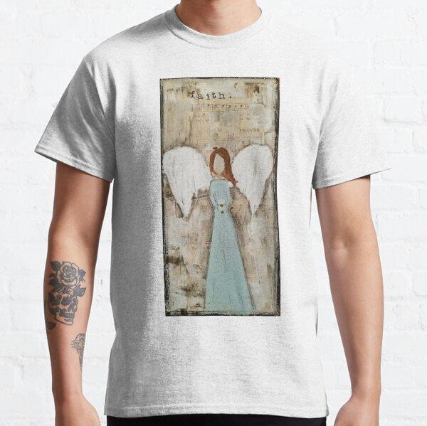 Faith Angel Mixed Media Classic T-Shirt