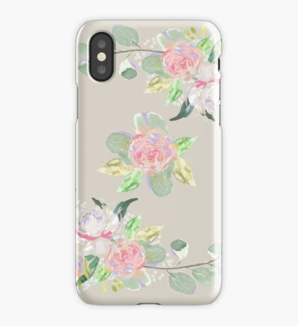 Floral Wreath Border III iPhone Case