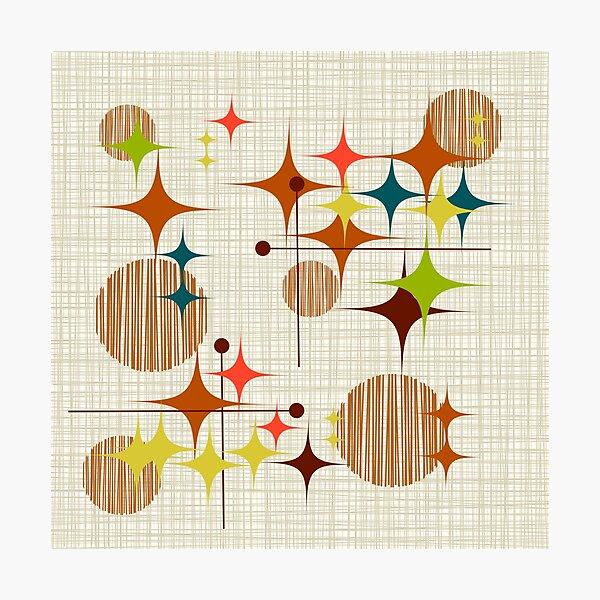 Eames Era Starbursts and Globes 4 (bkgrnd) Photographic Print