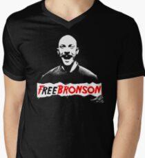 Free Charles Bronson v2 Men's V-Neck T-Shirt