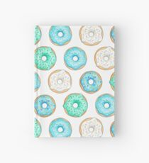 Blue Iced Donuts Pattern Hardcover Journal