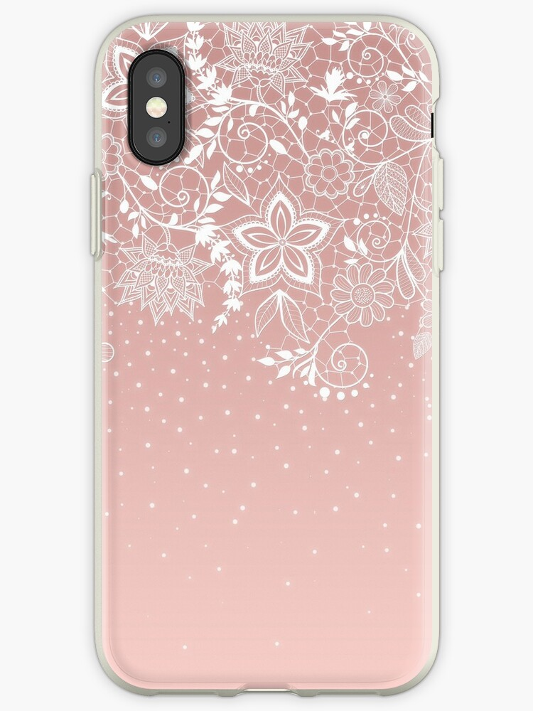 Elegant white lace floral and confetti design by InovArtS