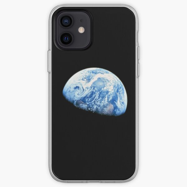 EARTH. PLANET. SPACE. Blue planet. Earthrise. Apollo 8. 1968. iPhone Soft Case