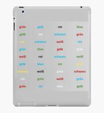 Stroop Test deutsch iPad-Hülle & Skin