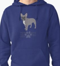 French Bulldog - Blue Pullover Hoodie