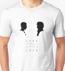 Johnlock ; morse code Unisex T-Shirt
