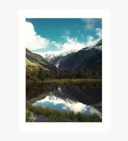 (Franz-Josef-Gletscher) Wo der Schnee schmilzt Kunstdruck