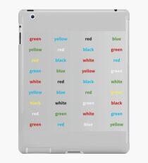 Stroop-Test englisch iPad-Hülle & Skin