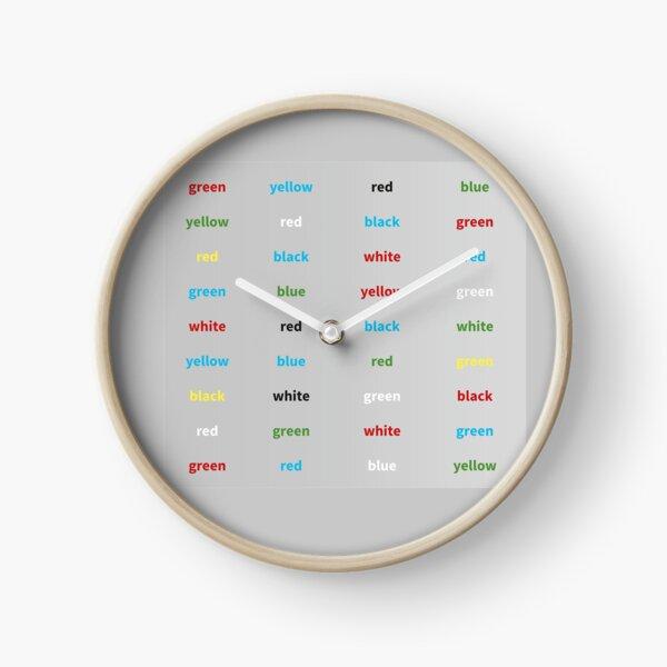 Stroop-Test englisch Uhr