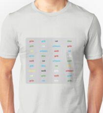 Stroop Test deutsch Unisex T-Shirt