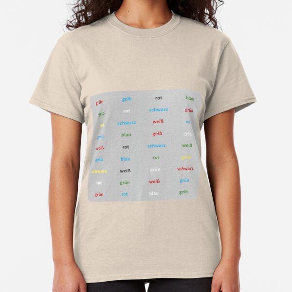 Stroop Test deutsch Classic T-Shirt