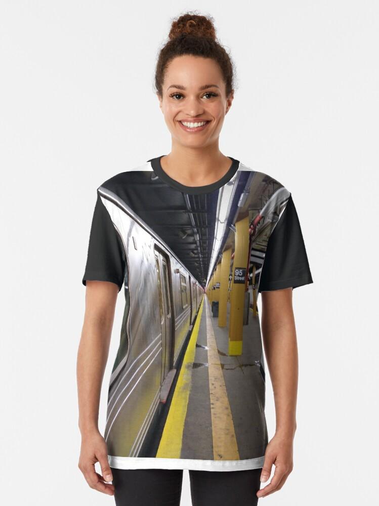Alternate view of Subway station Graphic T-Shirt