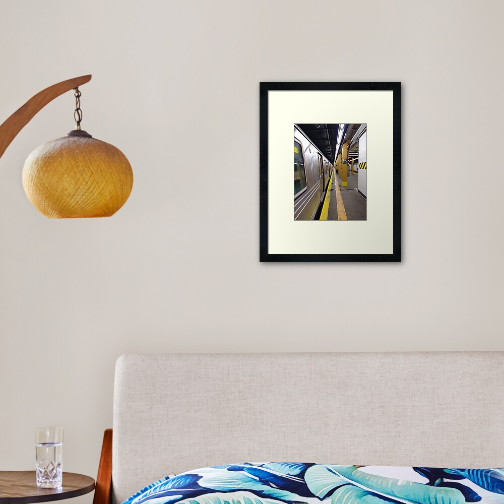 Subway station Framed Art Print