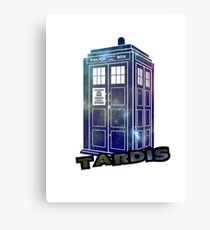 Doctor Who Space Tardis  Canvas Print