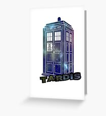 Doctor Who Space Tardis  Greeting Card