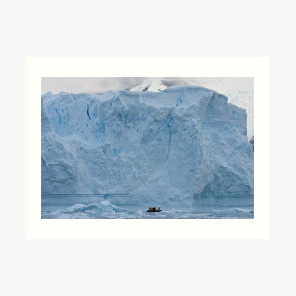 Explorers and iceberg Art Print