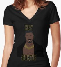 Hey Auntie Women's Fitted V-Neck T-Shirt