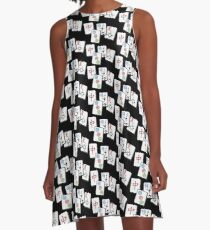MahJong Cubes A-Line Dress