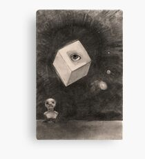 The Cube by Odilon Redon, 1880 Canvas Print