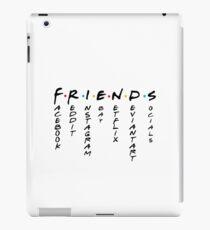 Friends Socials (vertical) - FB, Instagram, E-bay, Reddit - Gift iPad Case/Skin