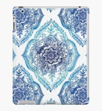 Indian Ink - in blues iPad Case/Skin