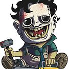 Leatherface Sticker - Terror Toddler by thecalgee