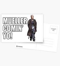 Mueller Comin' Yo! Postcards
