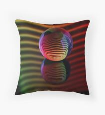 Reflections in the crystal ball. Throw Pillow