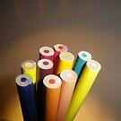 Rainbow Pencils by Pamela Jayne Smith