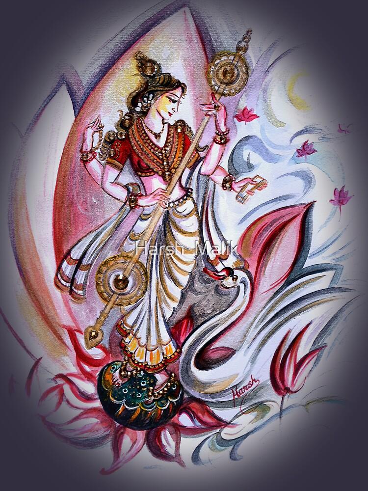 Musikalische Göttin Saraswati - Heilkunst von hlmalik