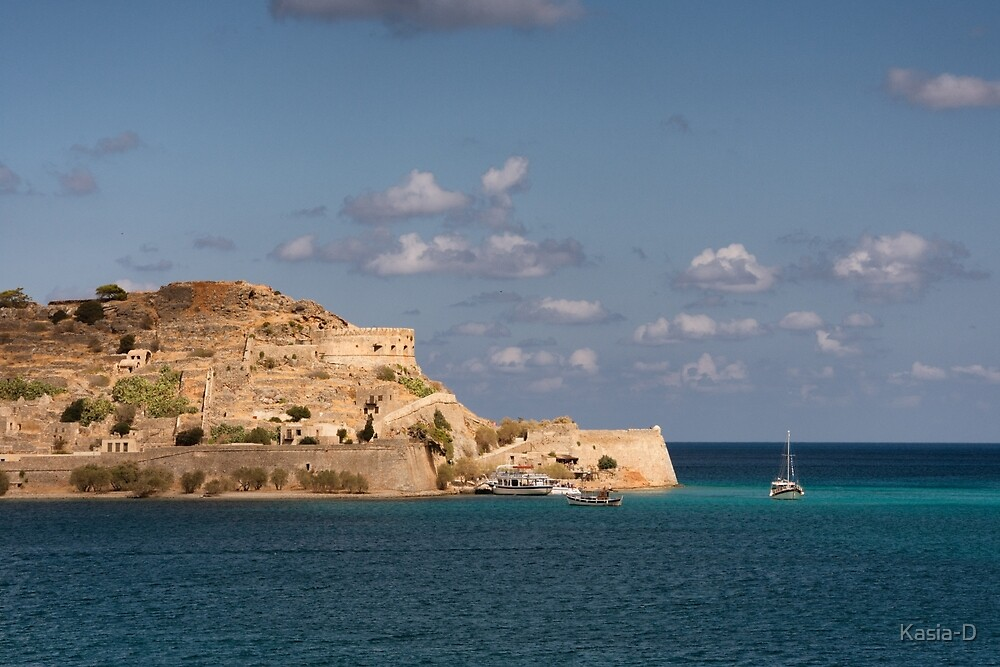 Crete: At Anchor off Spinalonga by Kasia-D