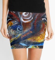 THIRD EYE - ABSTRACT Mini Skirt