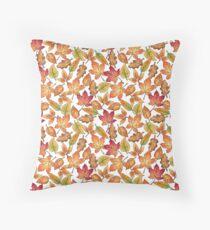 Autumn Leaves Pattern Floor Pillow