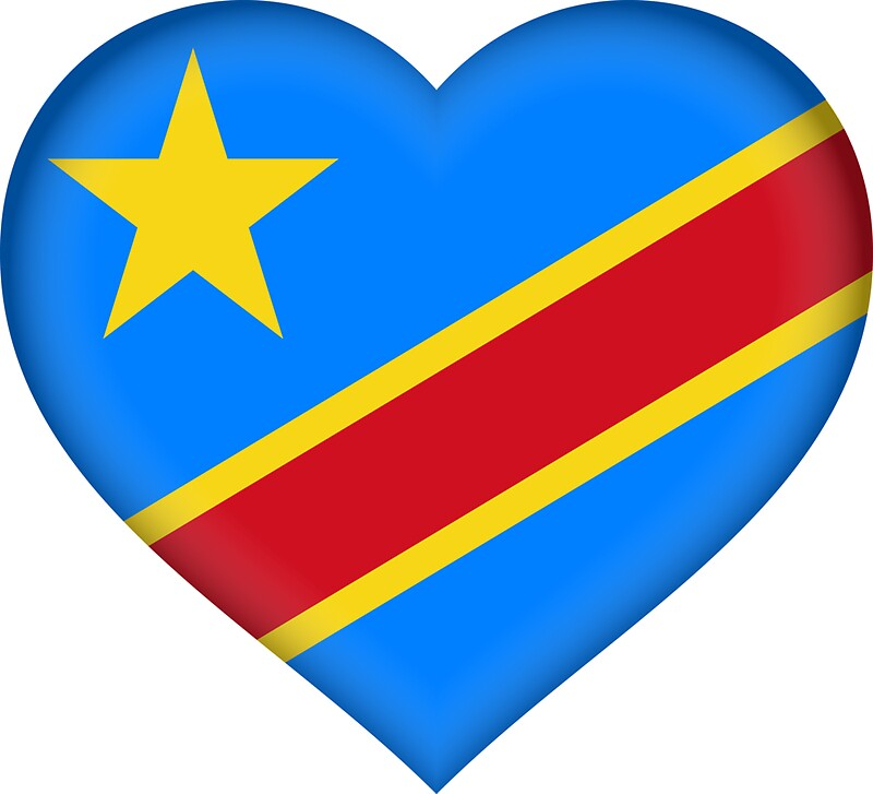 I love the democratic republic of congo flag sticker by bokrok