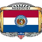 Missouri Art Deco Design with Flag by Cleave