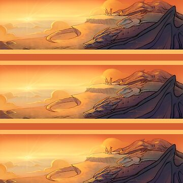 Dragon Sunset Stripes by RaptagonStudios